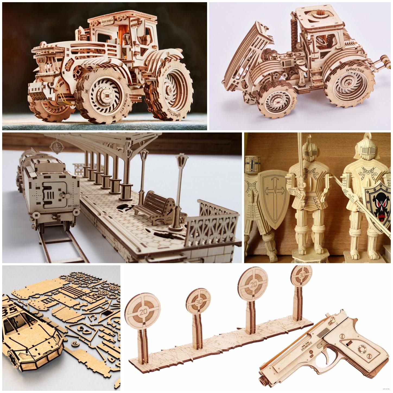Сборные модели из дерева от проекта «ФРЕЗЕР ЦЕНТР» КУРСК!